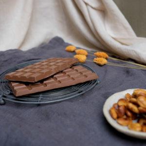 Tablette amandes caramélisées