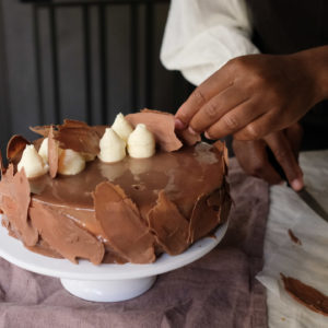Trois chocolats & poires